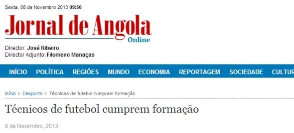 Jornal de Angola: Técnicos de futebol cumprem formação
